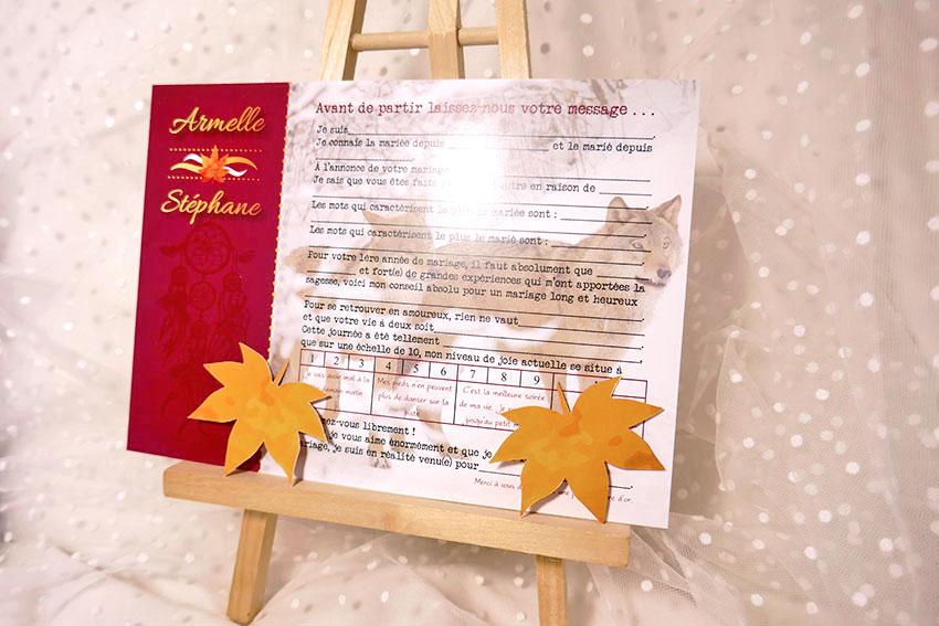 livre d'or thème automne