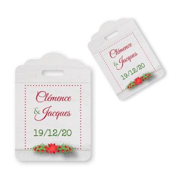 Etiquettes pour dragées Noel